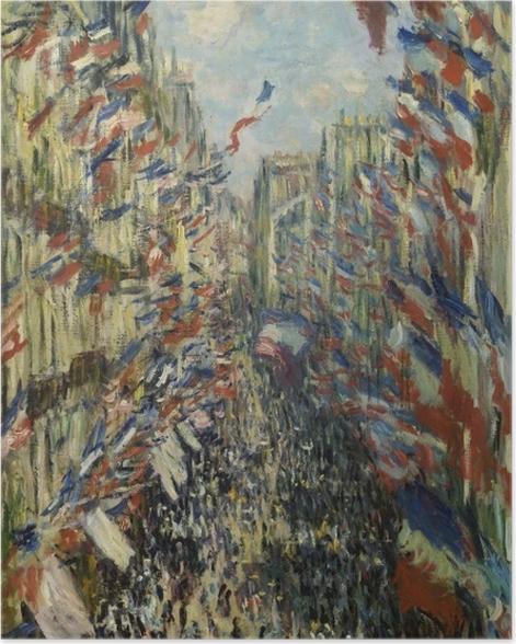 Poster Claude Monet - Die Rue Montorgueil in Paris. Das Fest des 30. Juni 1878 - Reproduktion