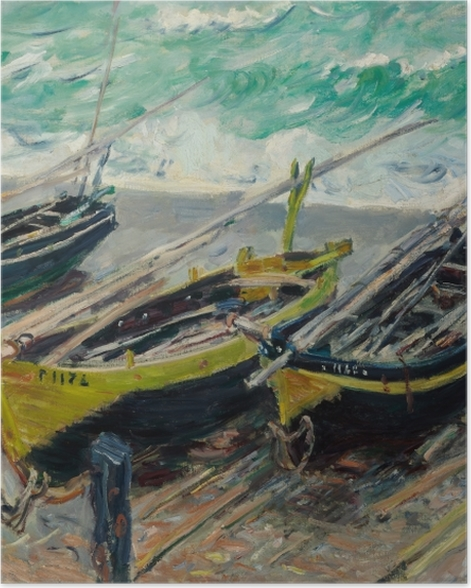 Poster Claude Monet - Drei Fischerboote - Reproduktion