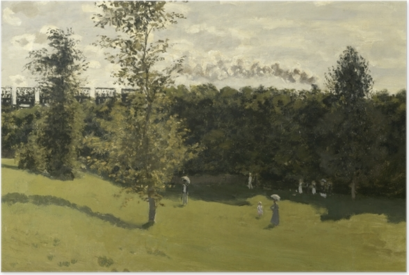 Poster Claude Monet - Eisenbahn in offener Landschaft - Reproduktion