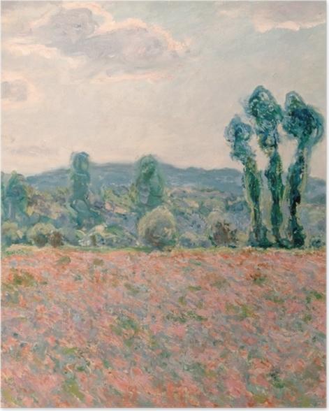 Poster Claude Monet - Feld mit Mohnblumen - Reproduktion