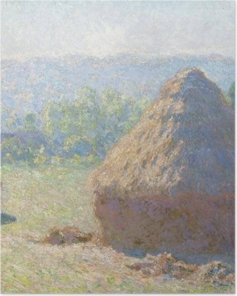 Poster Claude Monet - Getreideschober - Reproduktion