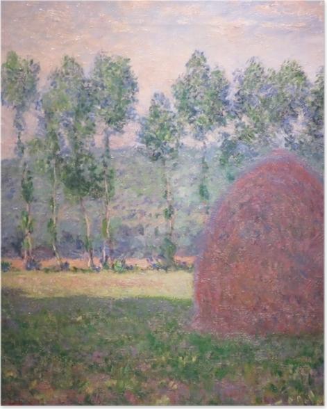Poster Claude Monet - Heuhaufen bei Giverny - Reproduktion
