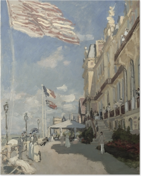 Poster Claude Monet - Hôtel des Roches Noires - Reproduktion