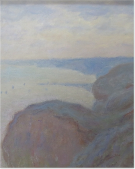 Poster Claude Monet - Klippen von Dieppe - Reproduktion