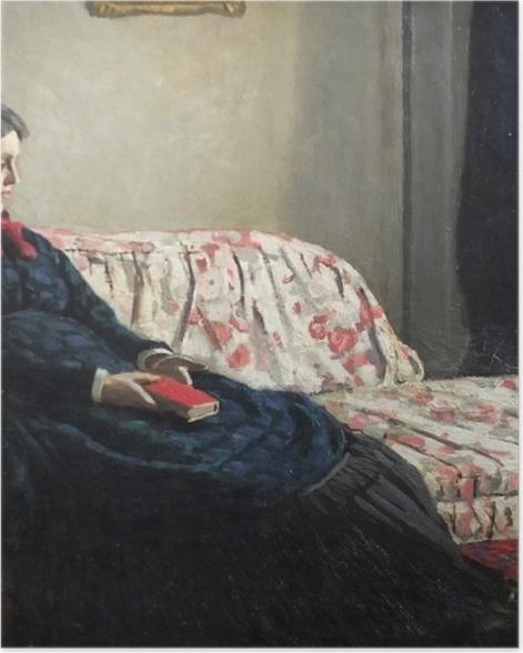 Poster Claude Monet - Meditation oder Madame Monet auf dem Sofa - Reproduktion