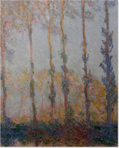 Poster Claude Monet - Pappeln am Ufer der Epte - Reproduktion
