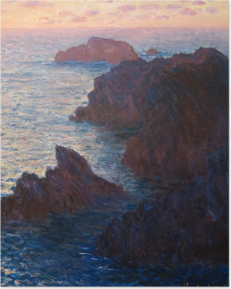 Poster Claude Monet - Port Domois a Belle Ile - Riproduzioni