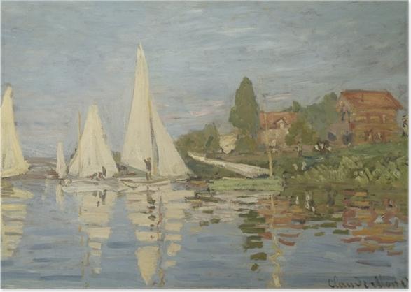 Poster Claude Monet - Regatta in Argenteuil - Reproduktion