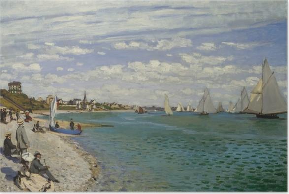 Poster Claude Monet - Regatta in Sainte-Adresse - Reproduktion