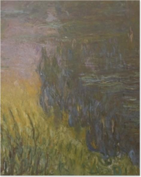 Poster Claude Monet - Seerosen bei Sonnenuntergang - Reproduktion