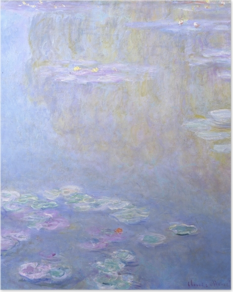 Poster Claude Monet - Seerosen in Giverny - Reproduktion