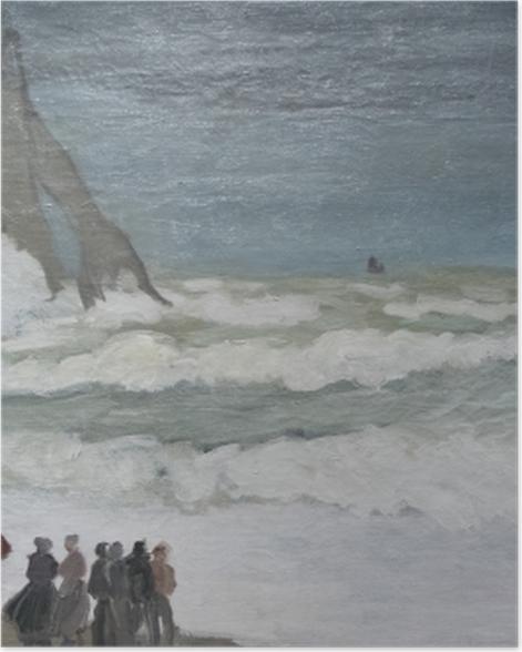 Poster Claude Monet - Stürmisches Meer bei Étretat - Reproduktion