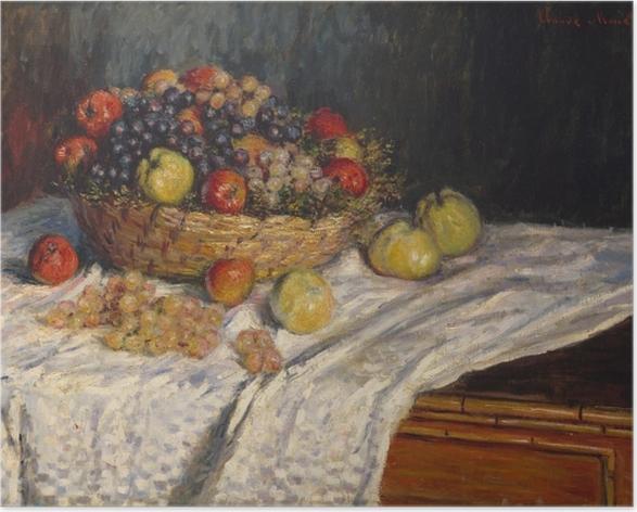 Poster Claude Monet - Trauben und Äpfel - Reproduktion