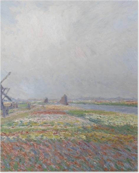 Poster Claude Monet - Tulpenfelder bei der Windmühle von Rijnsburg - Reproduktion