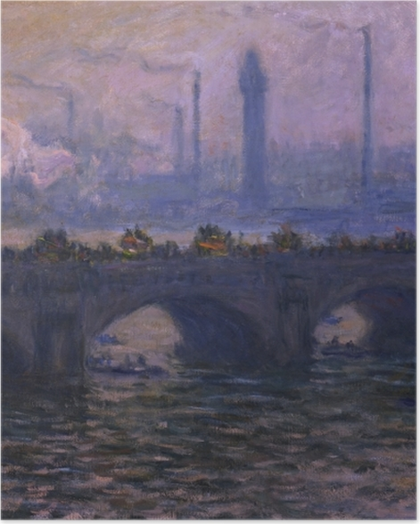 Poster Claude Monet - Waterloo Bridge - Reproduktion