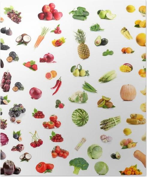Groß Bilder Von Obst Und Gemüse Zu Färben Fotos - Beispiel ...