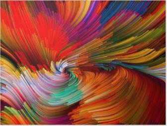 Poster Color Vortex Composition
