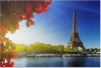 Poster Colore di autunno a Parigi