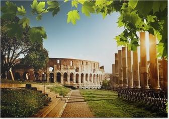 Poster Colosseo a Roma, Italia