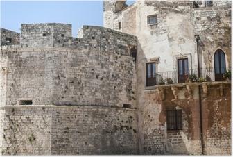 Poster Conversano (Bari, Puglia, Italia) - Parte del castello medievale
