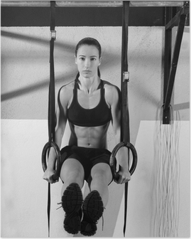 Poster CrossFit dip workout anello in palestra immersione
