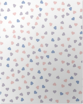Poster Cuore seamless. Illustrazione vettoriale. Quarzo Rosa e serenità colori.