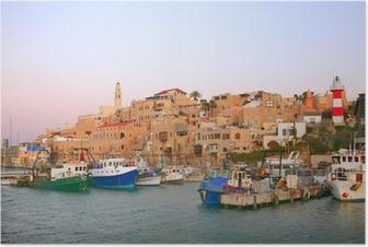 Poster Der alte Hafen in Jaffa. Tel Aviv