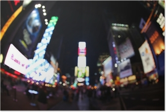 Poster Der Times Square bei Nacht