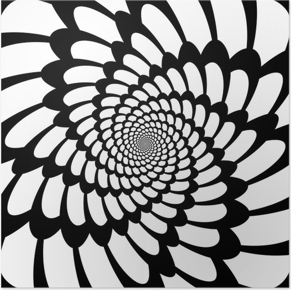 Poster Design-Monochrom-Bewegung Illusion Hintergrund • Pixers ...