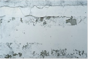 Poster Desquamazione vernice su un muro di pietra