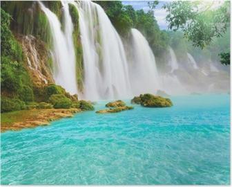 Poster Detian Wasserfall