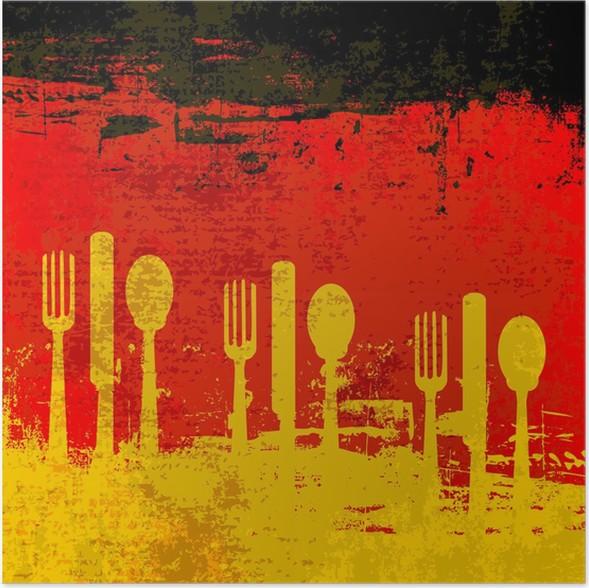 Poster Deutsch Menü-Schablone • Pixers® - Wir leben, um zu verändern