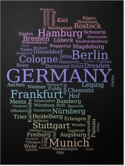 Poster Deutschland-Karte mit Städtenamen