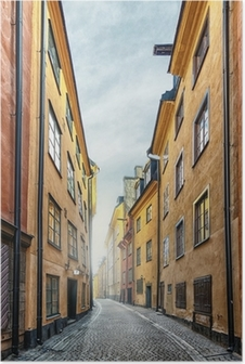 Poster Die Altstadt in Stockholm