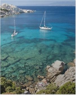 Poster Die Bucht von Cala Spinosa in Sardinien