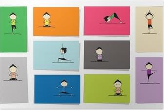 Ufficio Disegno Yoga : Carta da parati yoga pratica concetto di albero per il vostro