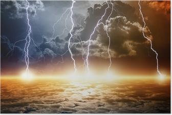 Poster Dramatische apokalyptischen Hintergrund
