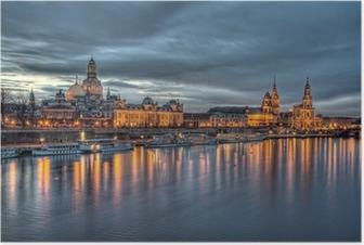 Poster Dresden am abend