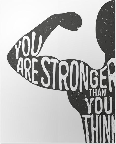 Poster Du bist stärker als du denkst. Beschriftung Jahrgang ...