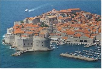 Poster Dubrovnik, Kroatien