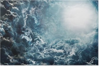 Poster Dunklen Himmel mit Mond