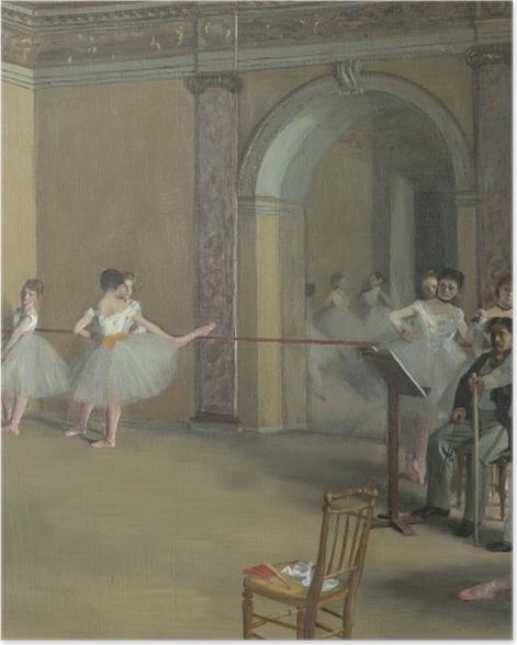 Poster Edgar Degas - Ballettsaal der Oper in der Rue Le Peletier - Reproduktion
