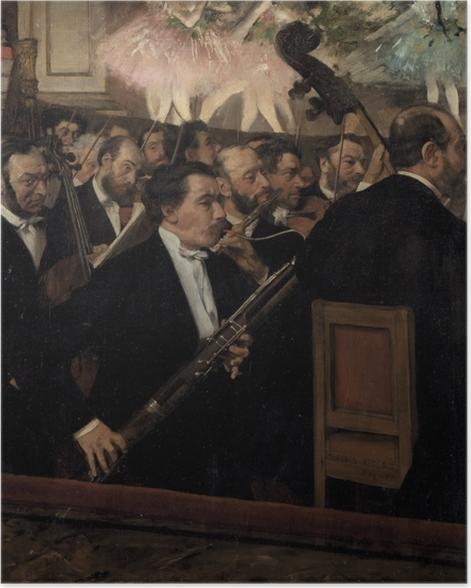 Poster Edgar Degas - Das Orchester der Opera - Reproduktion