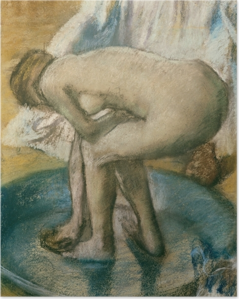 Poster Edgar Degas - Frau bei der Toilette - Reproduktion