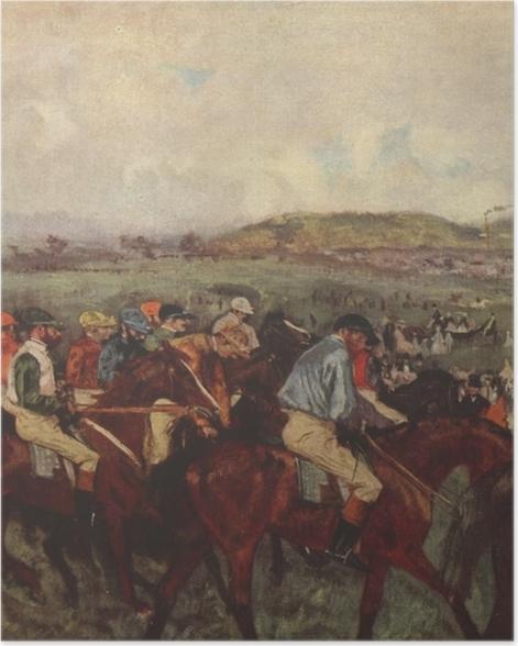 Poster Edgar Degas - Pferderennen - Reproduktion