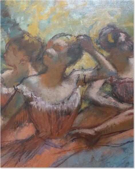 Poster Edgar Degas - Vier Tänzerinnen auf der Bühne - Reproduktion