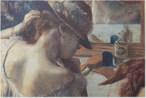 Poster Edgar Degas - Vor dem Spiegel - Reproduktion