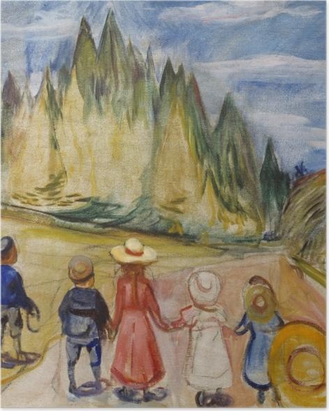 Poster Edvard Munch - Der Märchenwald - Reproduktion