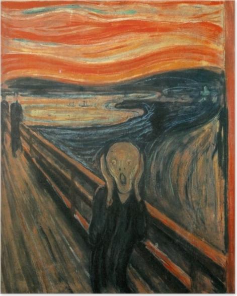 Poster Edvard Munch - Der Schrei - Reproduktion