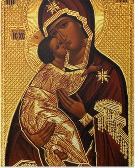 Poster Ein orthodoxer Ikone der Maria, Vladimirskaya